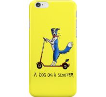 A Dog on a Scooter iPhone Case/Skin