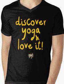 Mad Yogi # 4 Mens V-Neck T-Shirt