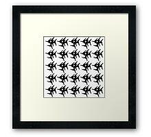 Black stars light  Framed Print