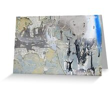 Design in peeling graffiti Greeting Card