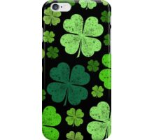 Saint Patrick's Day, Four Leafed Clovers - Green iPhone Case/Skin