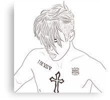 Justin Bieber Shirtless Drawing Canvas Print