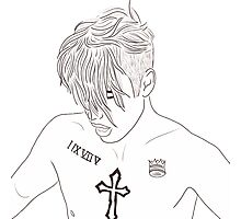 Justin Bieber Shirtless Drawing Photographic Print