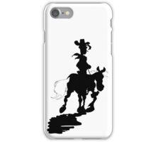 Lucky Luke Silhouette iPhone Case/Skin