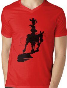 Lucky Luke Silhouette Mens V-Neck T-Shirt