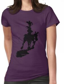 Lucky Luke Silhouette Womens Fitted T-Shirt