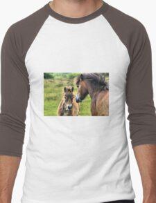 Exmoor Pony and Foal Men's Baseball ¾ T-Shirt