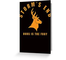 Storm`s End Greeting Card