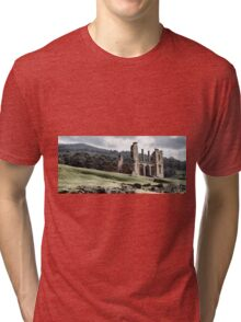 Port Arthur building in Tasmania, Australia. Tri-blend T-Shirt