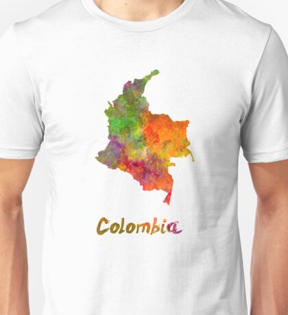 Colombia in watercolor Unisex T-Shirt
