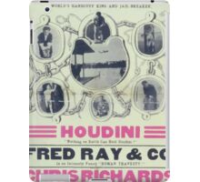 Performing Arts Posters Houdini nothing on earth can hold Houdini Fred Ray Co in an intensely funny Roman travesty 2836 iPad Case/Skin