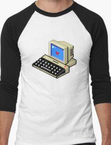 Cool computer love Men's Baseball ¾ T-Shirt
