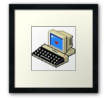 Cool computer love Framed Print