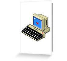 Cool computer love Greeting Card