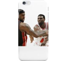 Lebron James getting hit iPhone Case/Skin