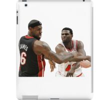 Lebron James getting hit iPad Case/Skin