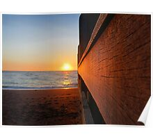 Sunset on the Jetty Poster