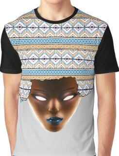 AFRO_Orange & Blue Graphic T-Shirt