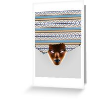AFRO_Orange & Blue Greeting Card