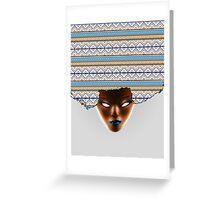 AFRO_Orange & Blue Greeting Card