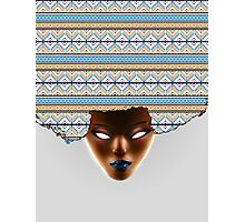 AFRO_Orange & Blue Photographic Print
