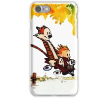 Play on lake Calvin and Hobbes iPhone Case/Skin