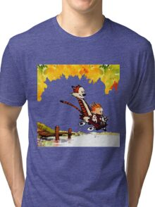 Play on lake Calvin and Hobbes Tri-blend T-Shirt