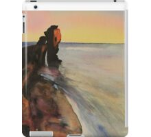 Original Watercolour Painting Pulpit Rock, Portland Bill, Dorset, England  iPad Case/Skin