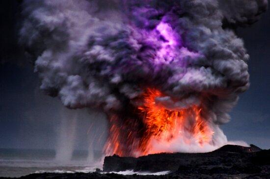 Kilauea Volcano at Kalapana 5 by Alex Preiss