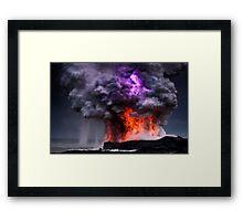 Kilauea Volcano at Kalapana 5 Framed Print