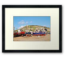 Hastings boats Framed Print
