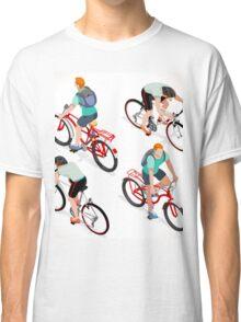 Teen Boys Cycling Isometric Classic T-Shirt