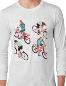 Teen Boys Cycling Isometric Long Sleeve T-Shirt