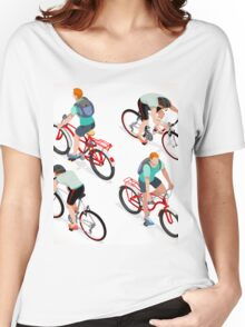 Teen Boys Cycling Isometric Women's Relaxed Fit T-Shirt