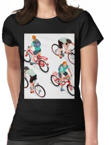 Teen Boys Cycling Isometric Womens Fitted T-Shirt