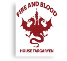 Fire And Blood (House Targaryen) Canvas Print