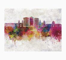 Tucson V2 skyline in watercolor background Kids Tee