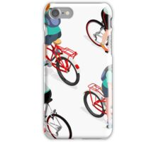 Teen Boys Cycling Isometric iPhone Case/Skin
