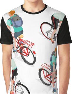 Teen Boys Cycling Isometric Graphic T-Shirt