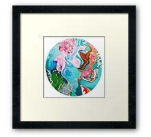 Underwater Japanese Garden Framed Print