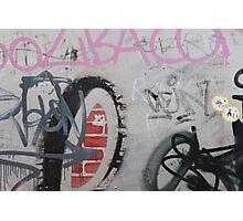 Graffiti wall art Photographic Print