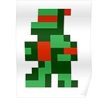 8 bit turtle Poster