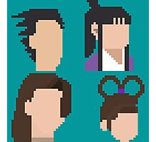 Ace Attorney Heads. Photographic Print