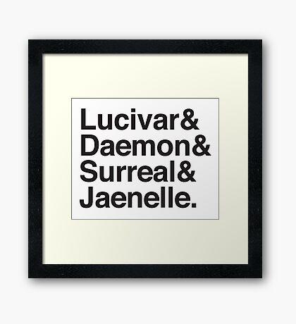 Lucivar & Daemon & Surreal & Jaenelle Framed Print
