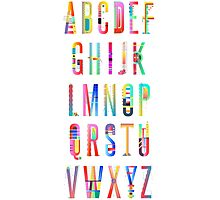 Abc | Alphabet Creation #redbubble #decor #buyart Photographic Print