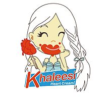 Khaleesi Heart Cream! Photographic Print