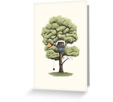 Tyre Swing Greeting Card