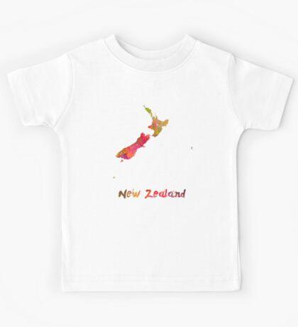 New Zealand in watercolor Kids Tee