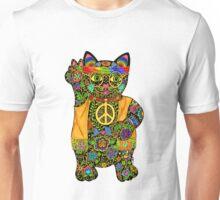 HIPPY LUCKY BLACK CAT Unisex T-Shirt