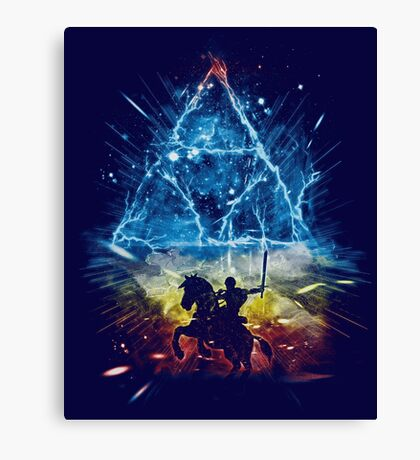 triforce storm-rainbow version Canvas Print